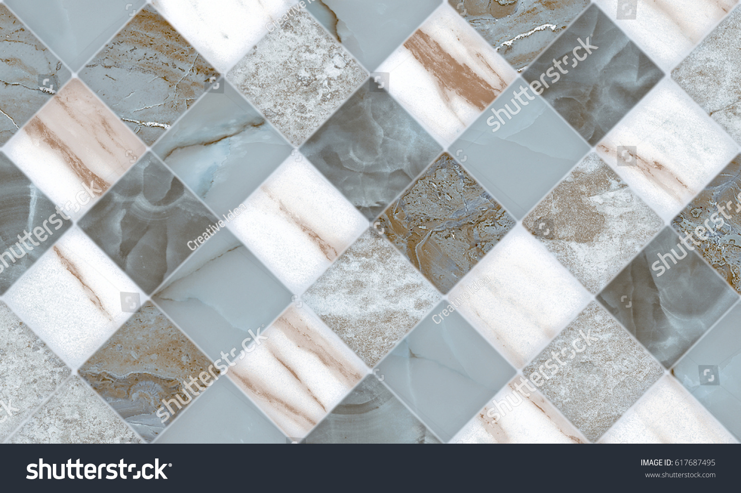 Royalty Free Stock Illustration of Wall Floor Marble Tiles Design ...