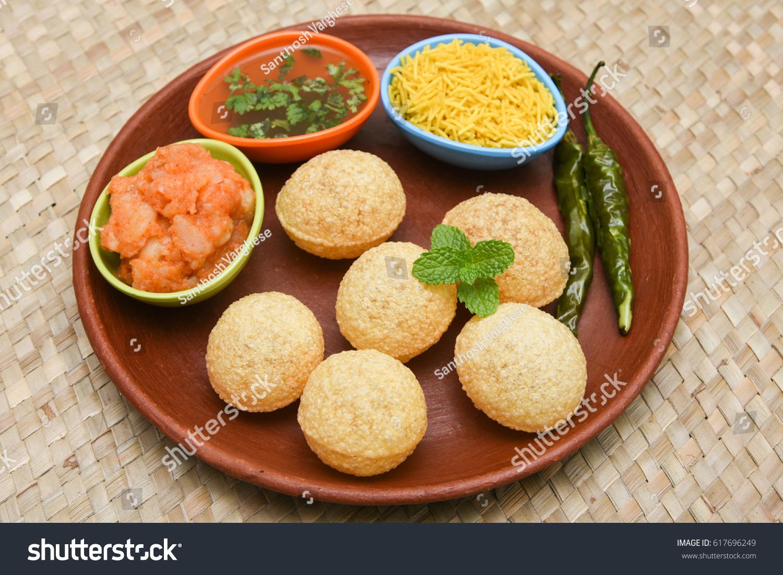 Spicy Pani Puri Golgappe Potato Stuffing Stock Photo (Edit Now