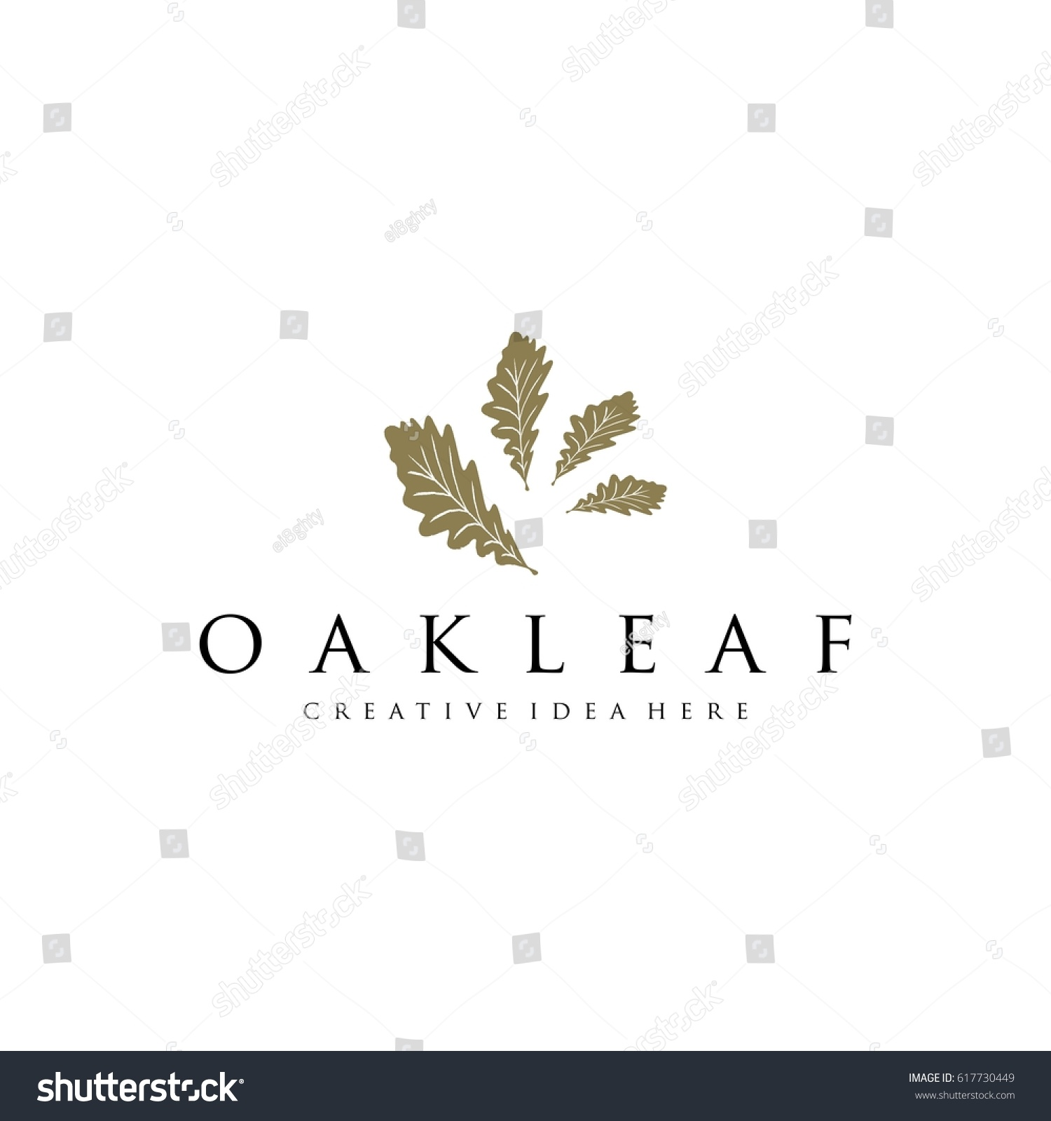 oak leaf logo template stock vector 617730449 shutterstock