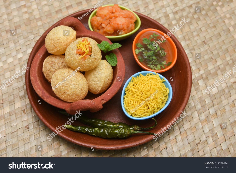 Spicy Pani Puri Golgappe Potato Stuffing Stock Photo (Edit