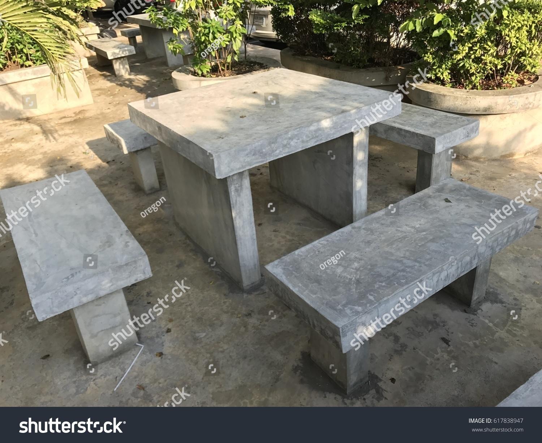 Strange Cement Table Chairs Stock Photo Edit Now 617838947 Uwap Interior Chair Design Uwaporg