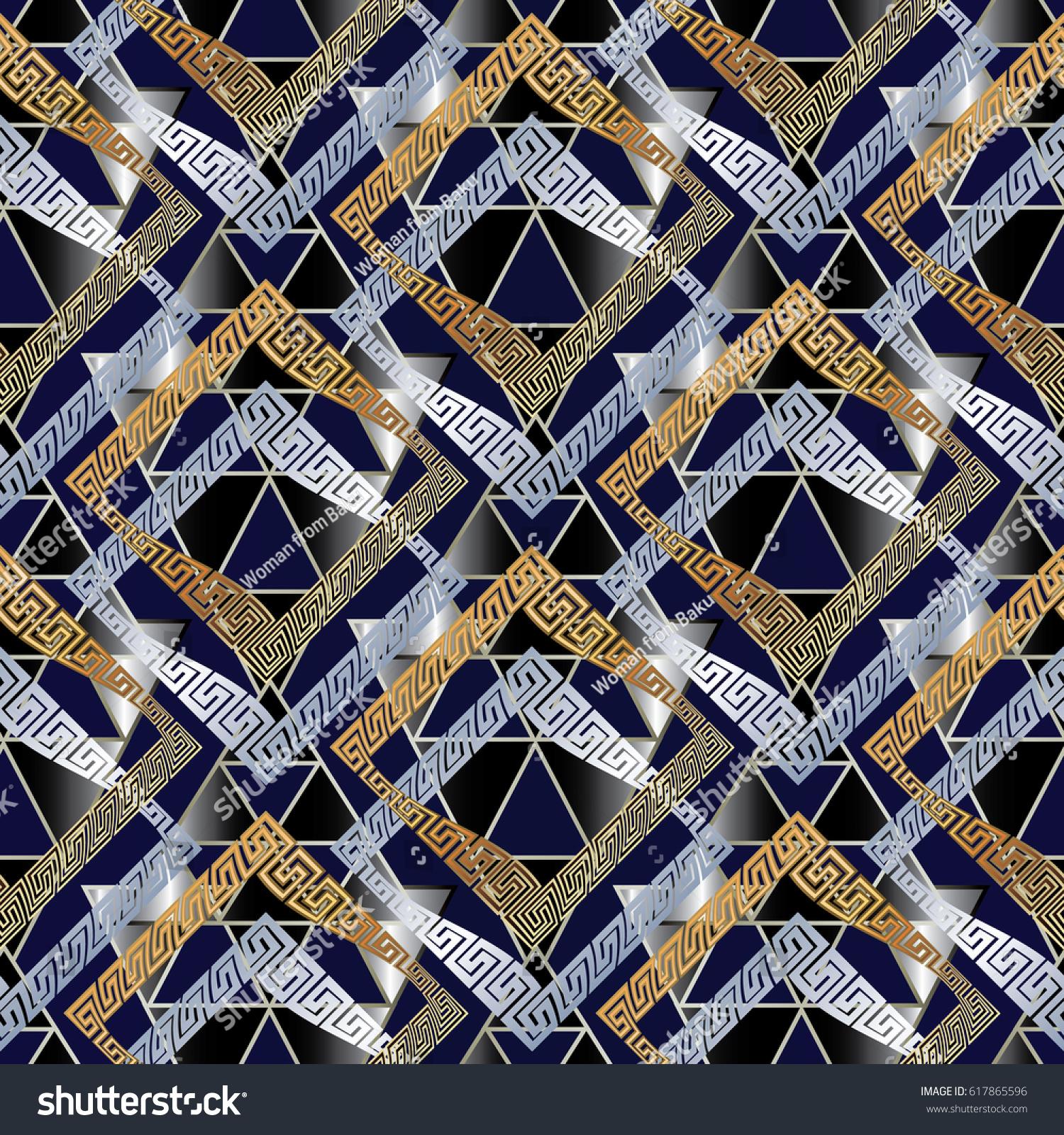 Modern Geometric Seamless Pattern Abstract Background