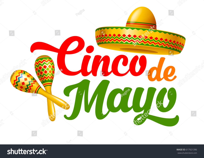 Cinco De Mayo Emblem Design Hand Stock Vector 617921396 ...