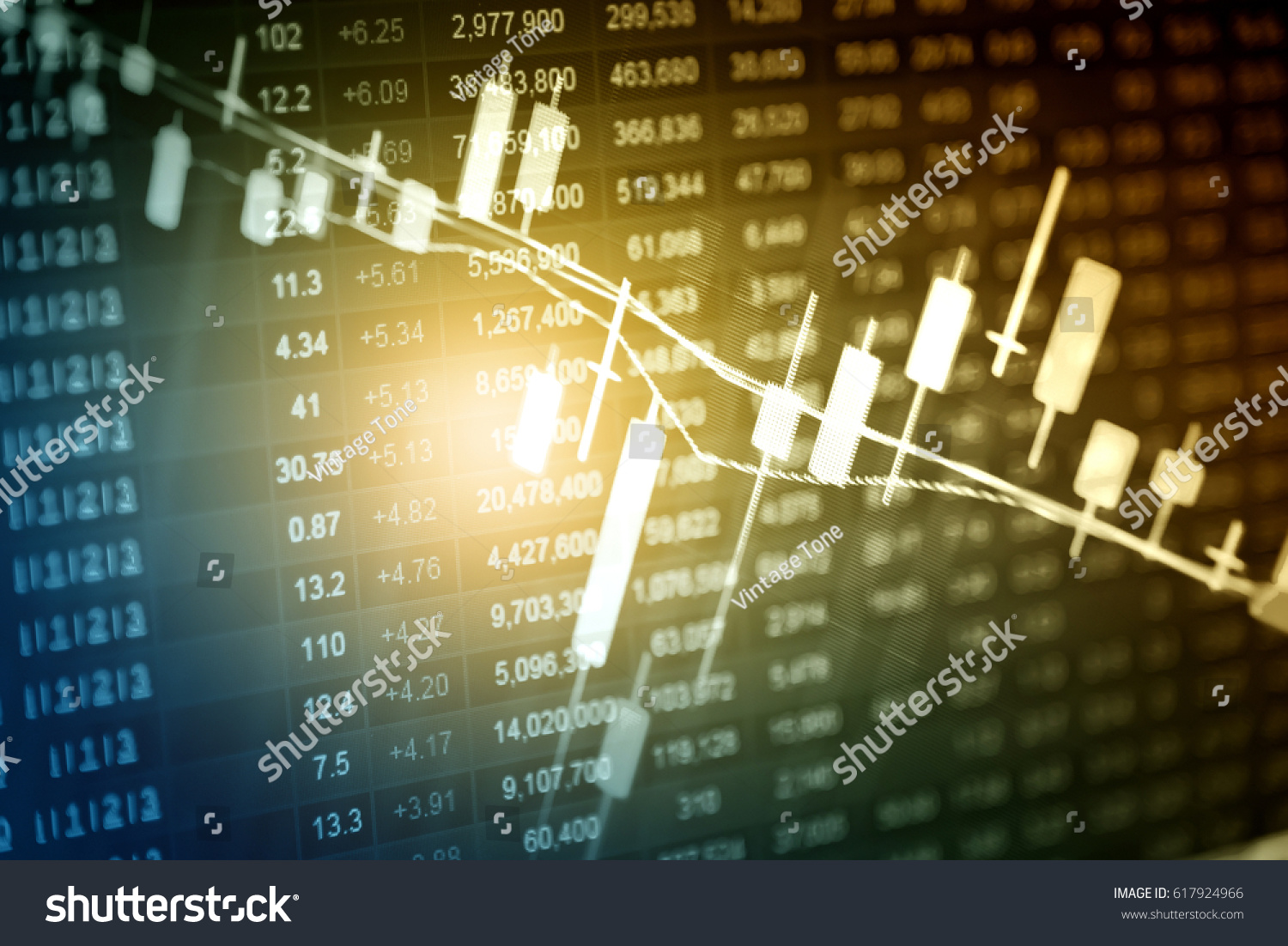 Forex Market Background Trading On Currency Stock Photo Edit Now