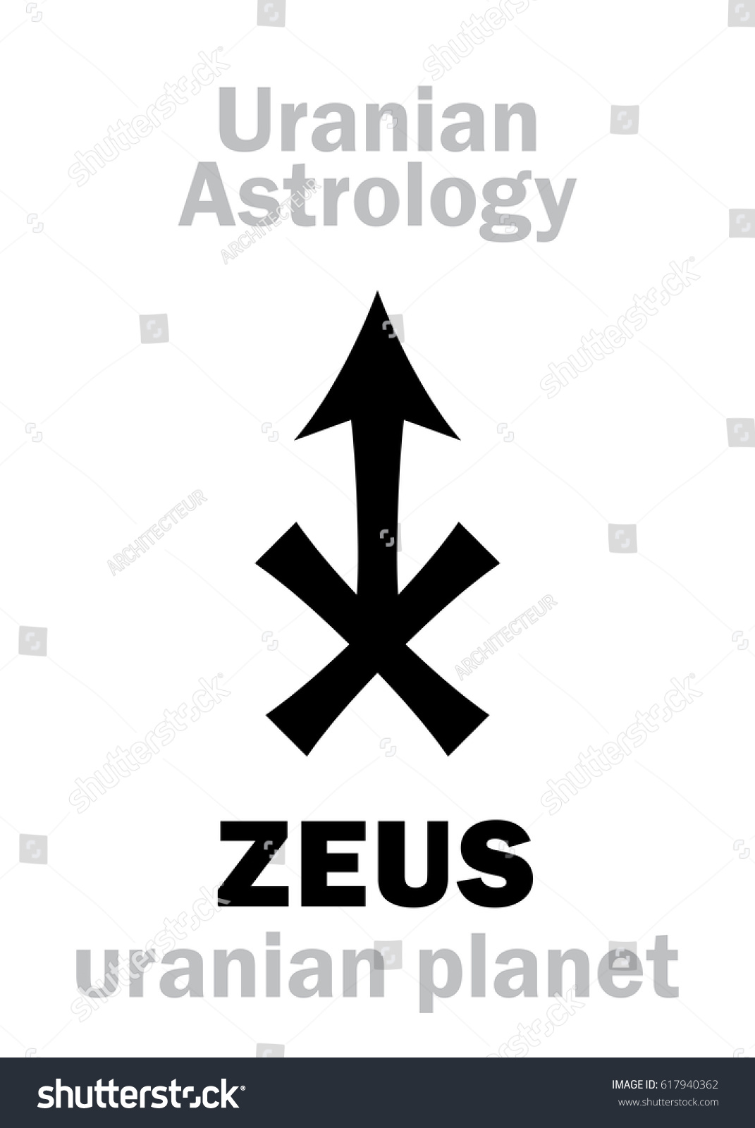 Astrology alphabet zeus uranian planet transneptunian stock vector astrology alphabet zeus uranian planet trans neptunian point hieroglyphics character biocorpaavc Images