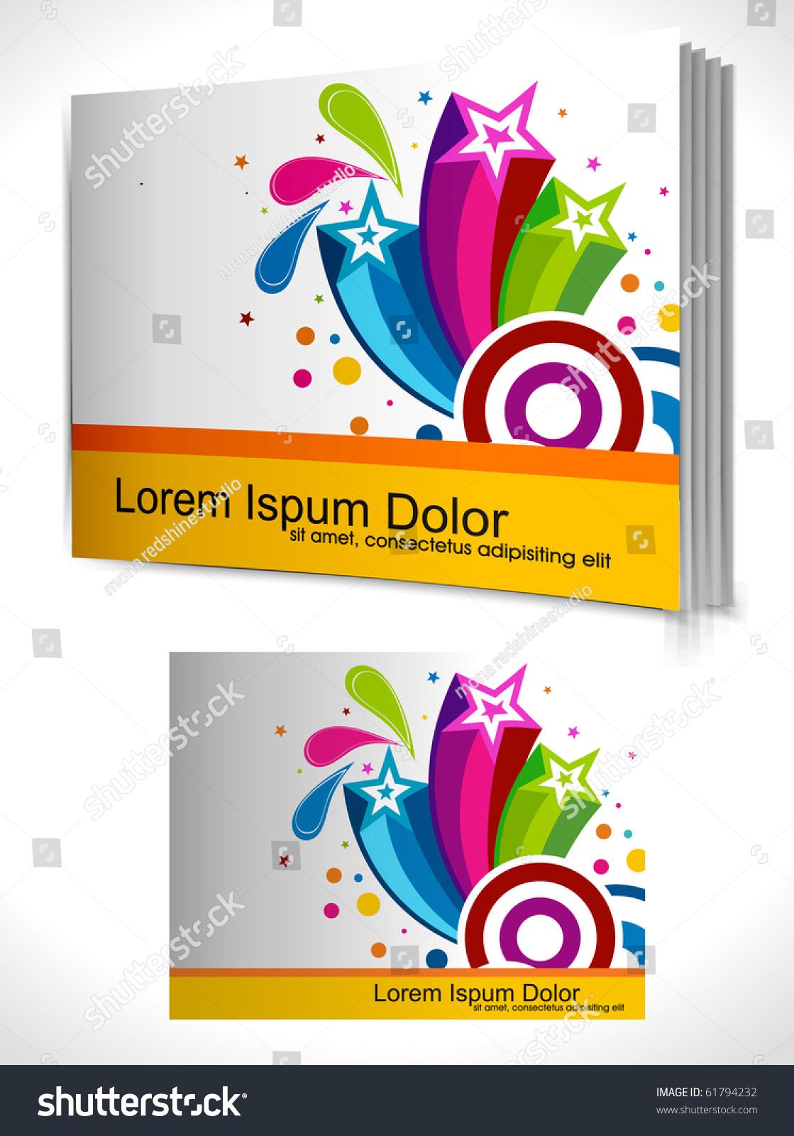 Book Cover Design Vector Template ~ Book cover design template vector illustration stock