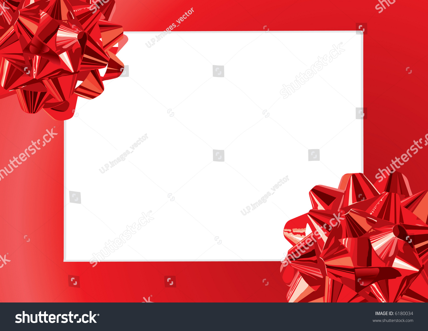 Red gift bows border with clipping path for easy background removing - Gift Bows Frame Also Available Vector Version Of This Image In Our Gallery
