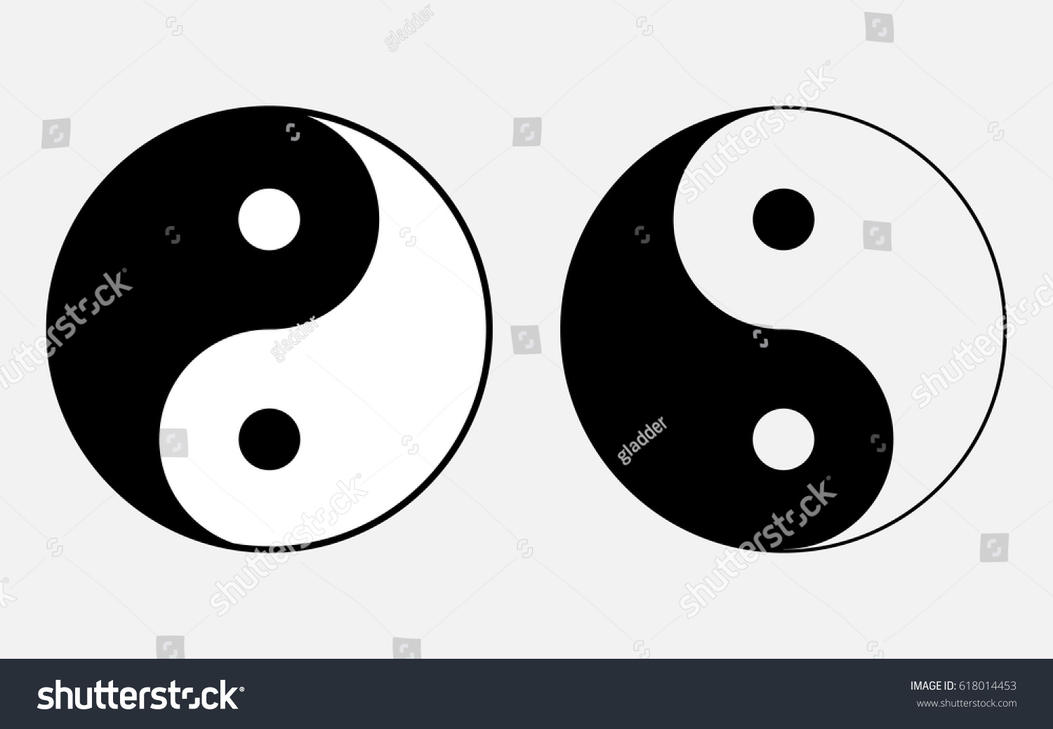 Vector Illustration Sign Chinese Philosophy Symbol Stock Vector