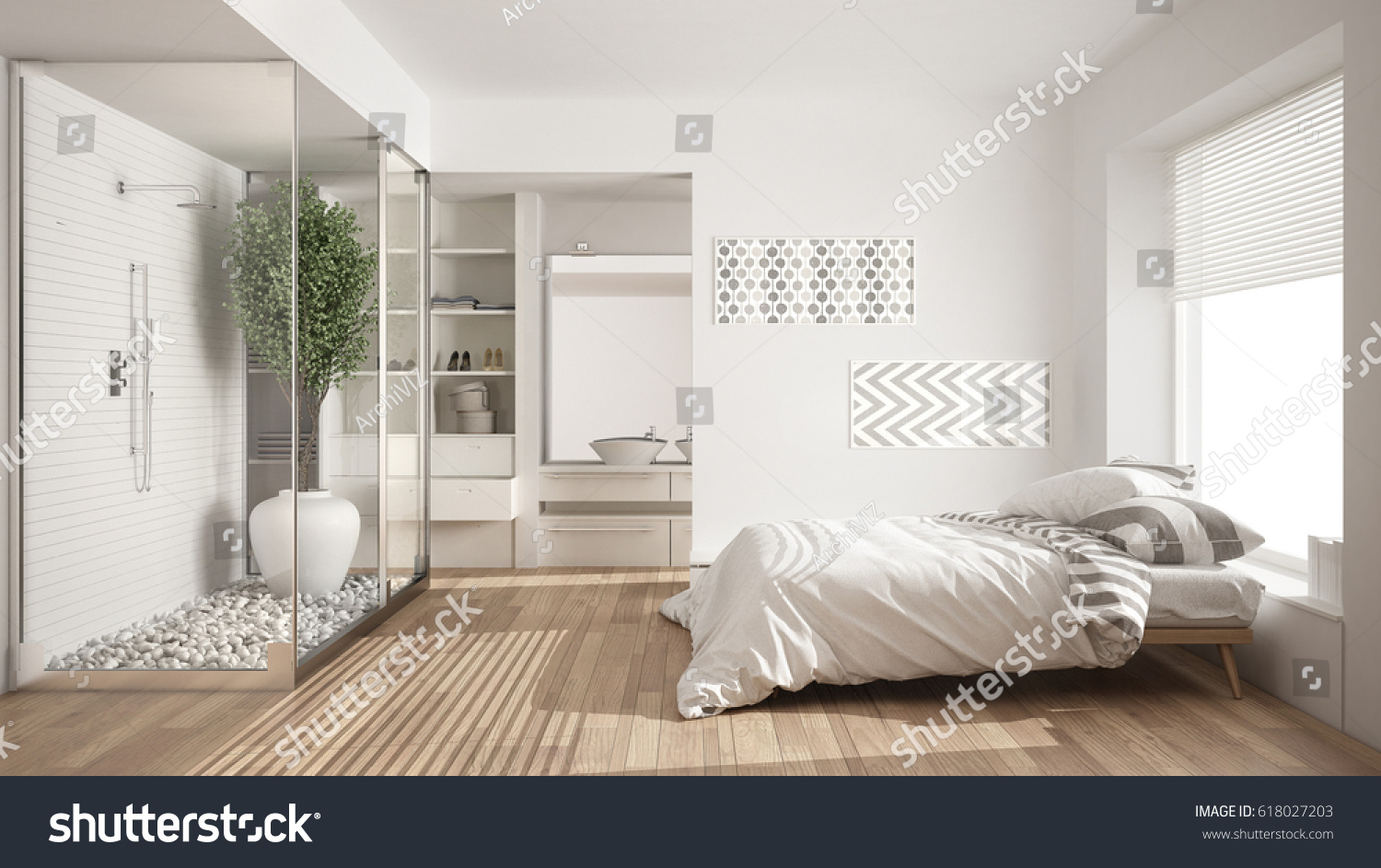 photo mirror bedroom and small closet with single stock bed door tv