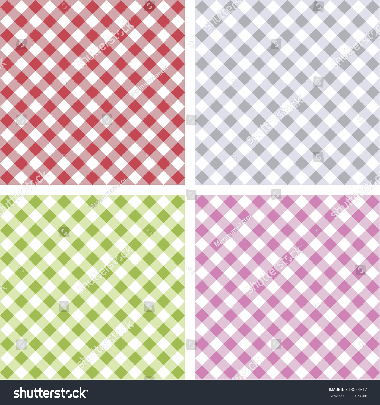 Picnic Table Background Picnic Table Cloth Color Square Plaid Stock Vector 618073817