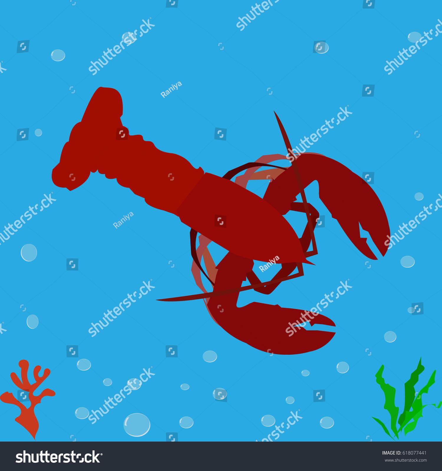 Cancer Lobster Icon Logo Symbol Stock Vector 618077441 Shutterstock