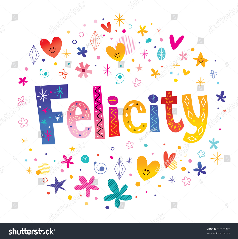 Felicity Design felicity name decorative lettering type stock photo photo