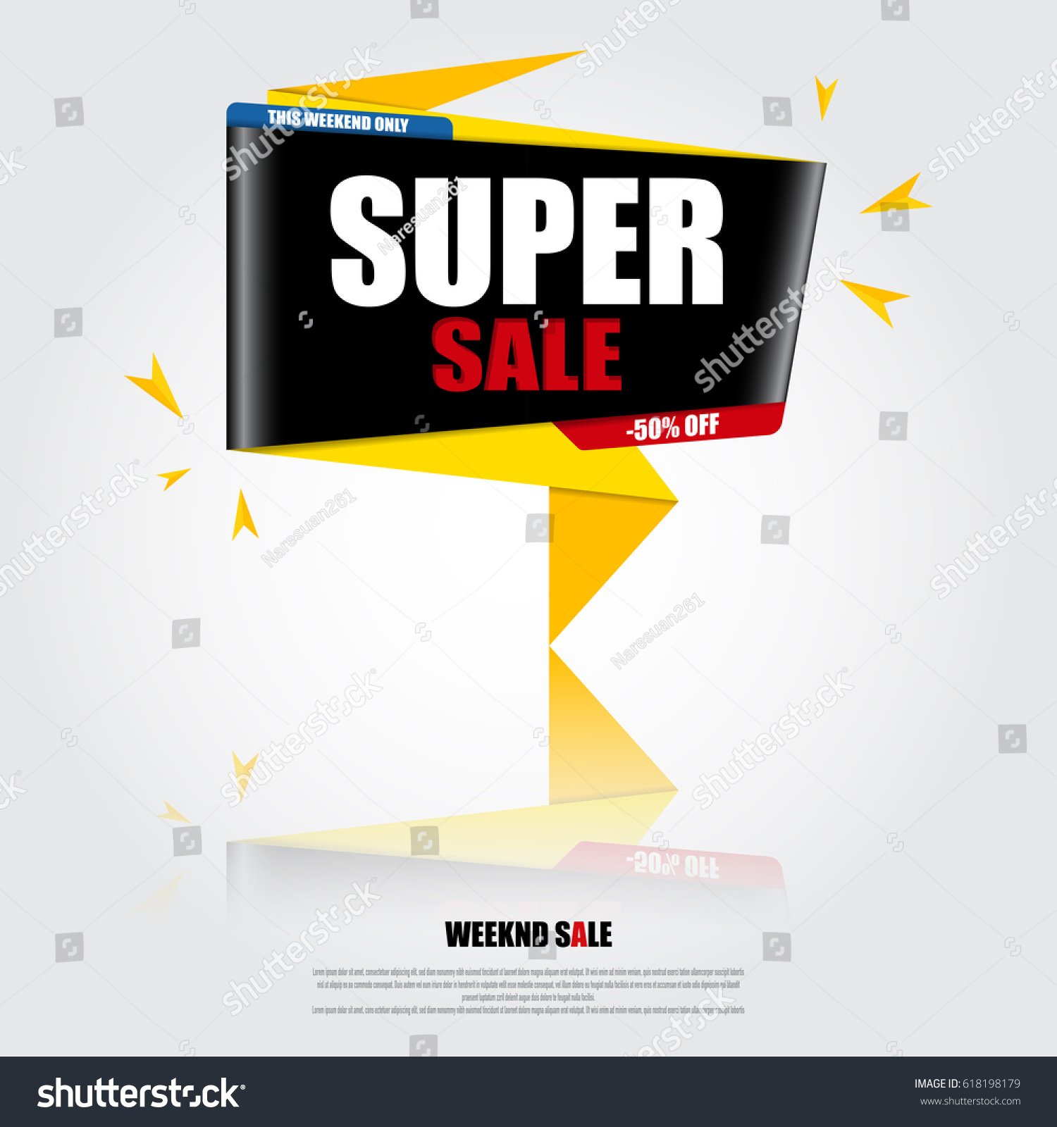 sale banner design template with creative ideas - Banner Design Ideas