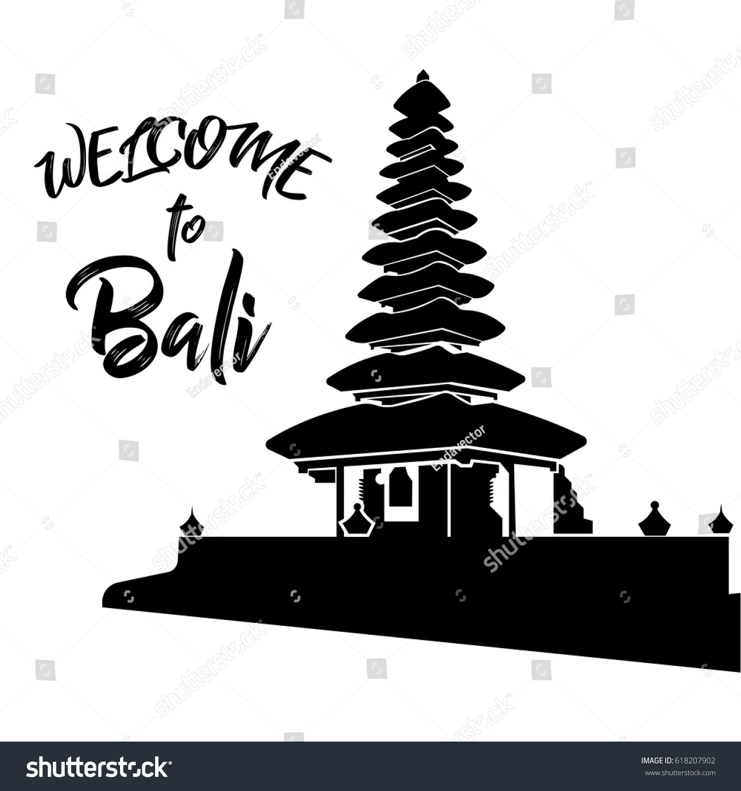 Vector image welcome bali stock vector hd royalty free 618207902 vector image welcome to bali altavistaventures Gallery