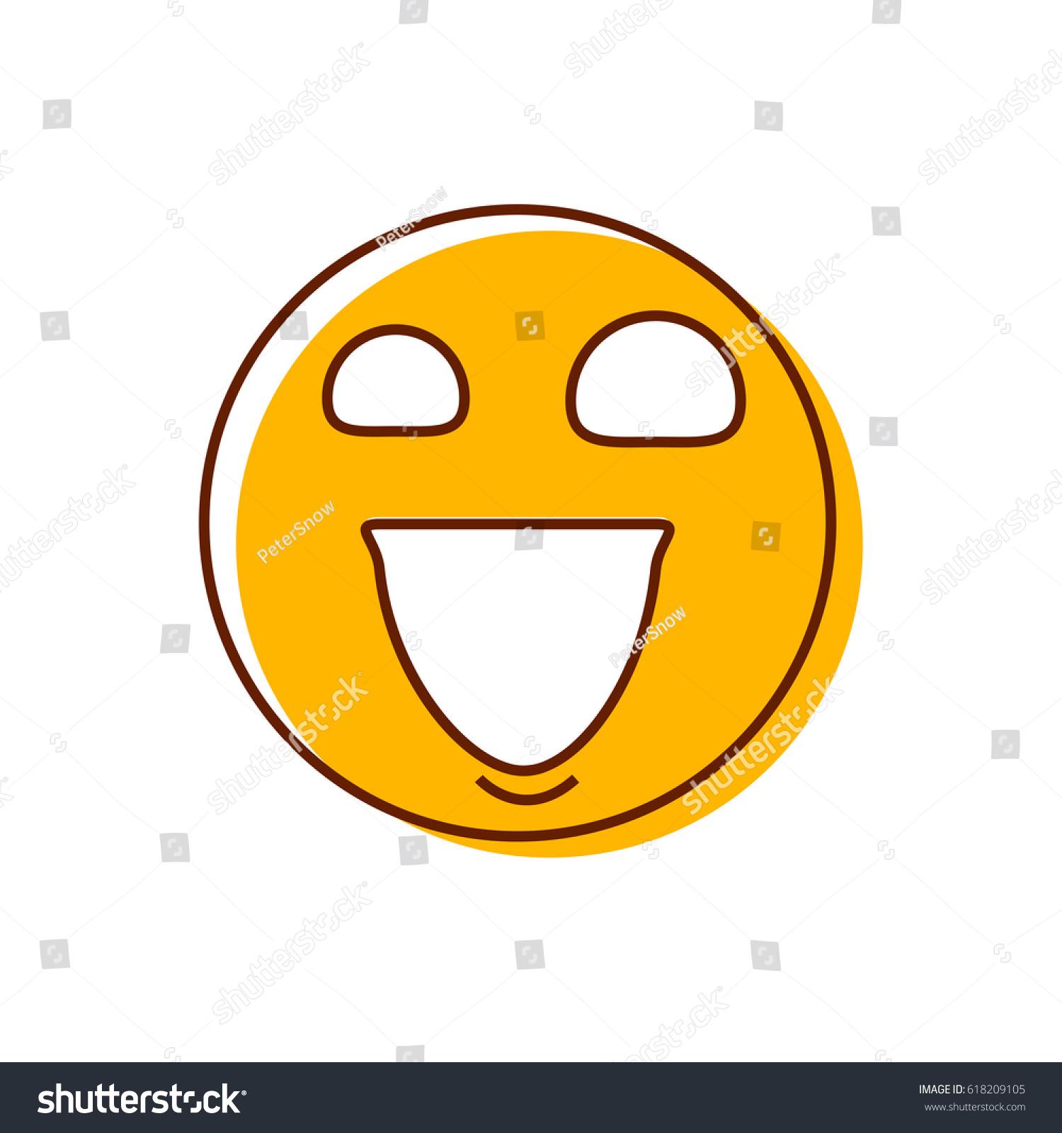 Crazy Emoticon Vector Big Naughty Evil Stock Vector Royalty Free