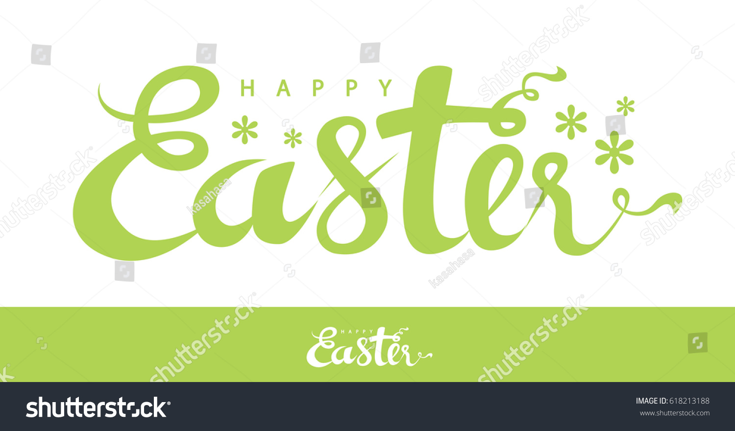 Easter text flower symbol isolated on stock vector 618213188 easter text with flower symbol isolated on white background vector illustration hand drawn design biocorpaavc Choice Image