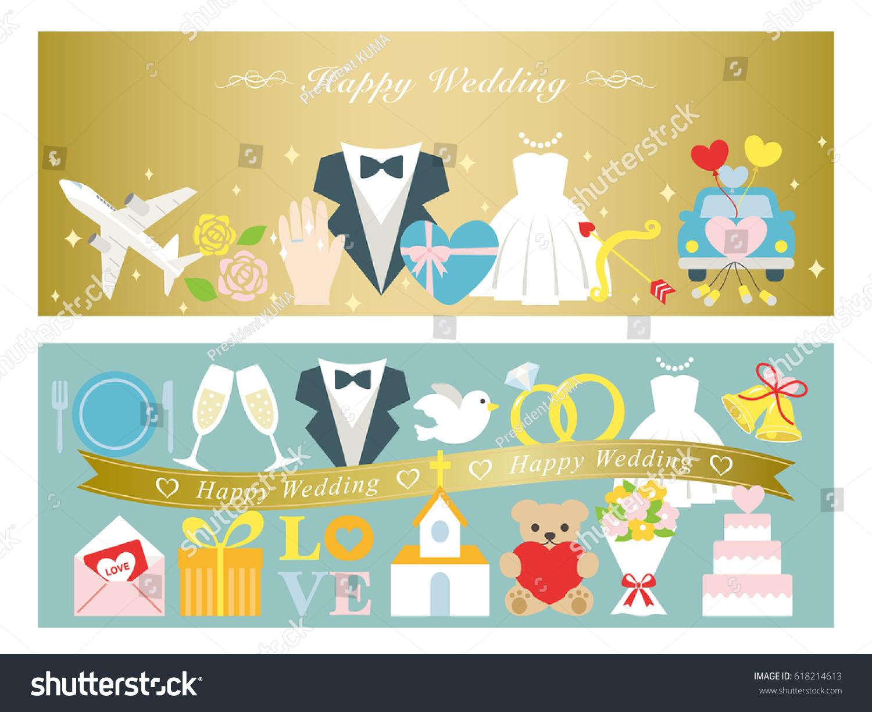 Happy Wedding Greeting Card Set