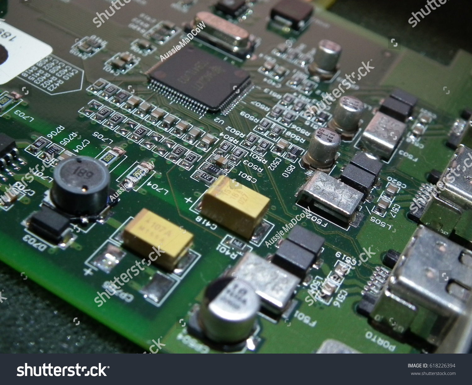 Electronics Circuit Board Printed Pcb With Components Id 618226394 Id618226394aspect133descriptionelectronics