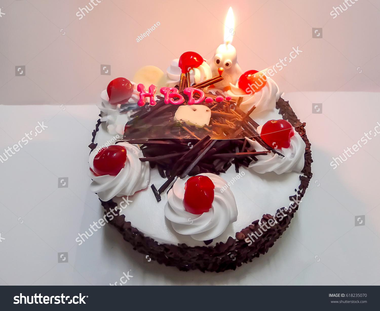 Birthday Cake Black Forest Cake Cherry Stock Photo Edit Now