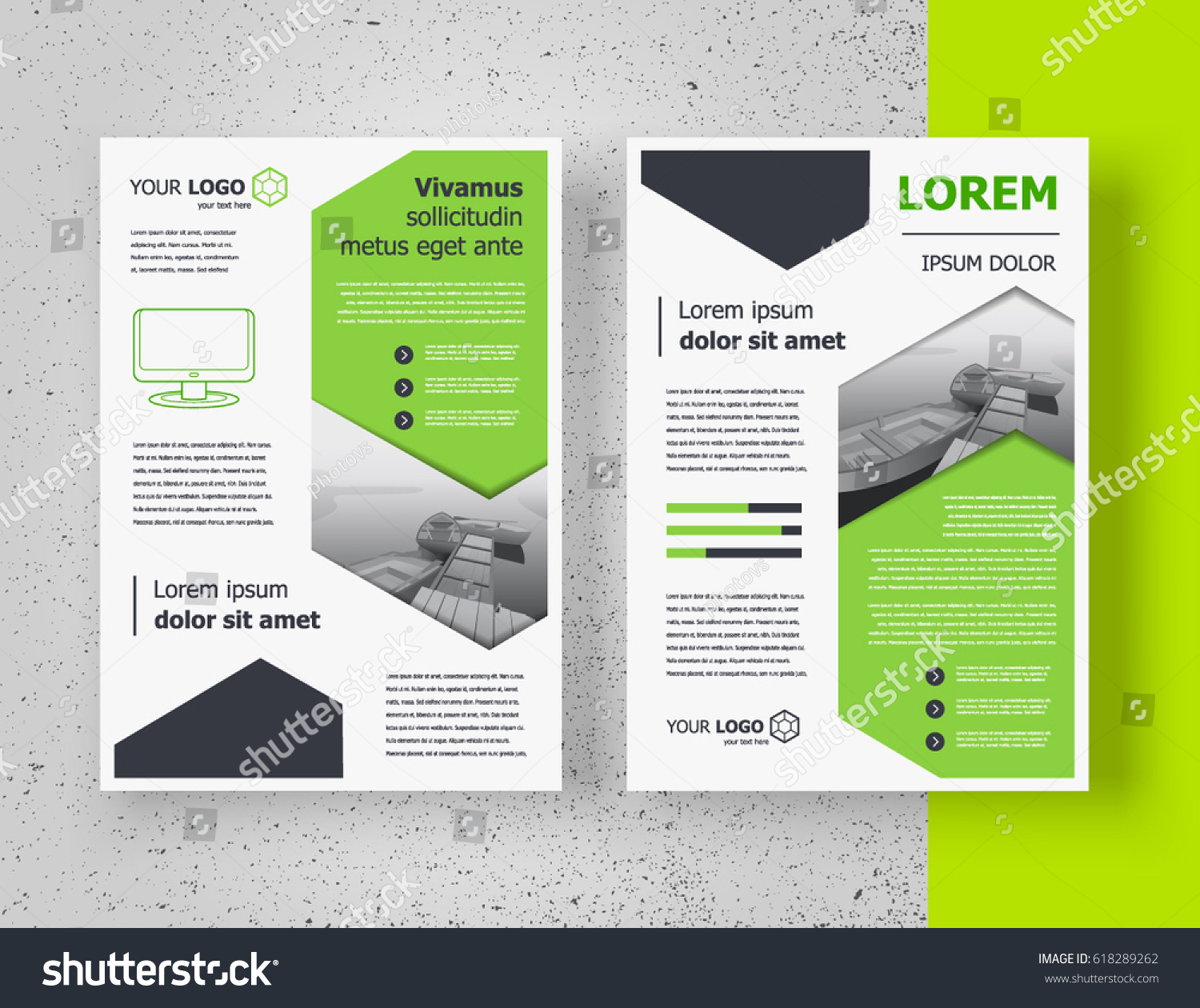 Blank campaign poster template