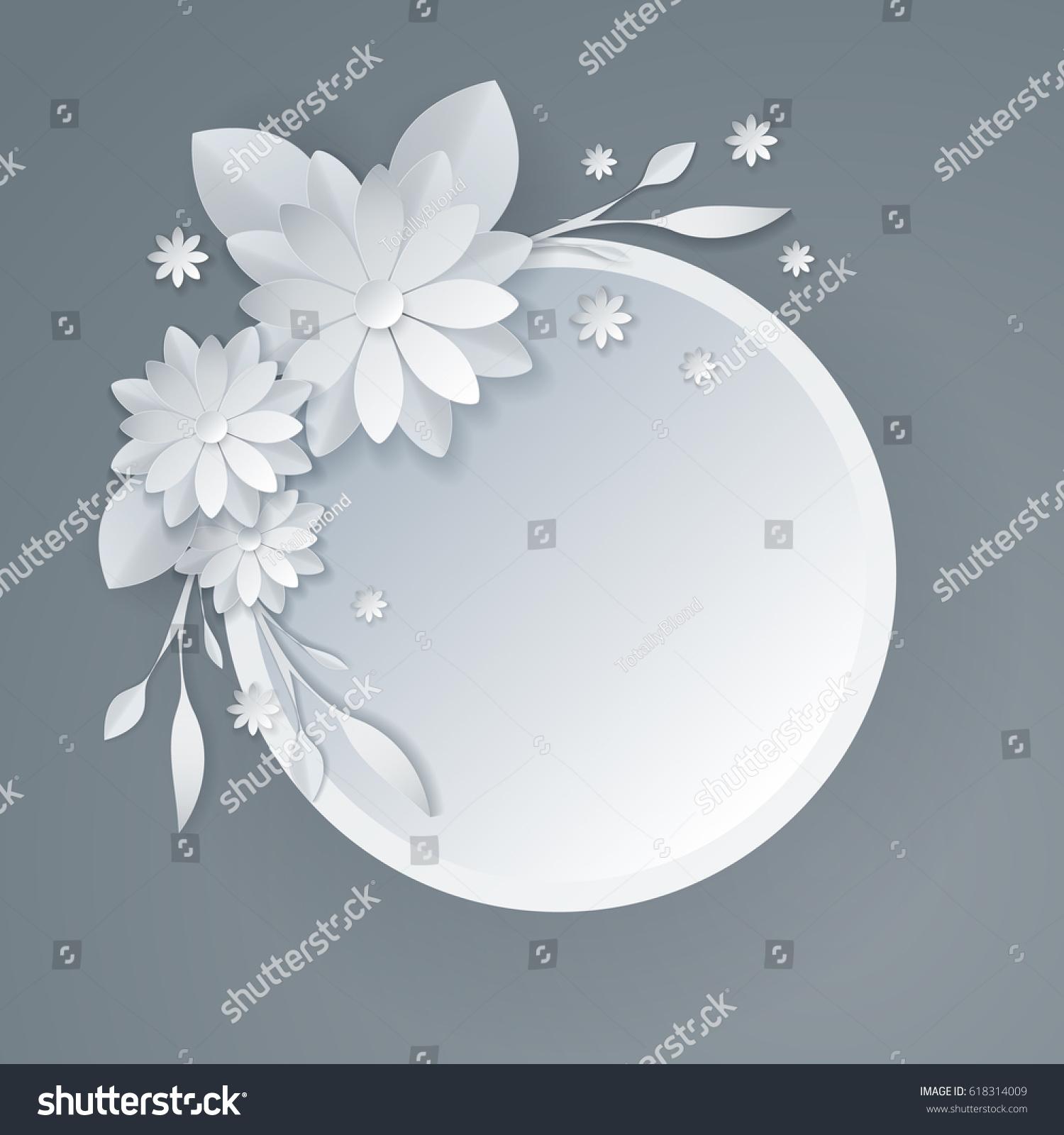 3d white paper craft flowers background stock vector 618314009 3d white paper craft flowers background spring wedding decoration summer bridal bouquet greeting jeuxipadfo Choice Image
