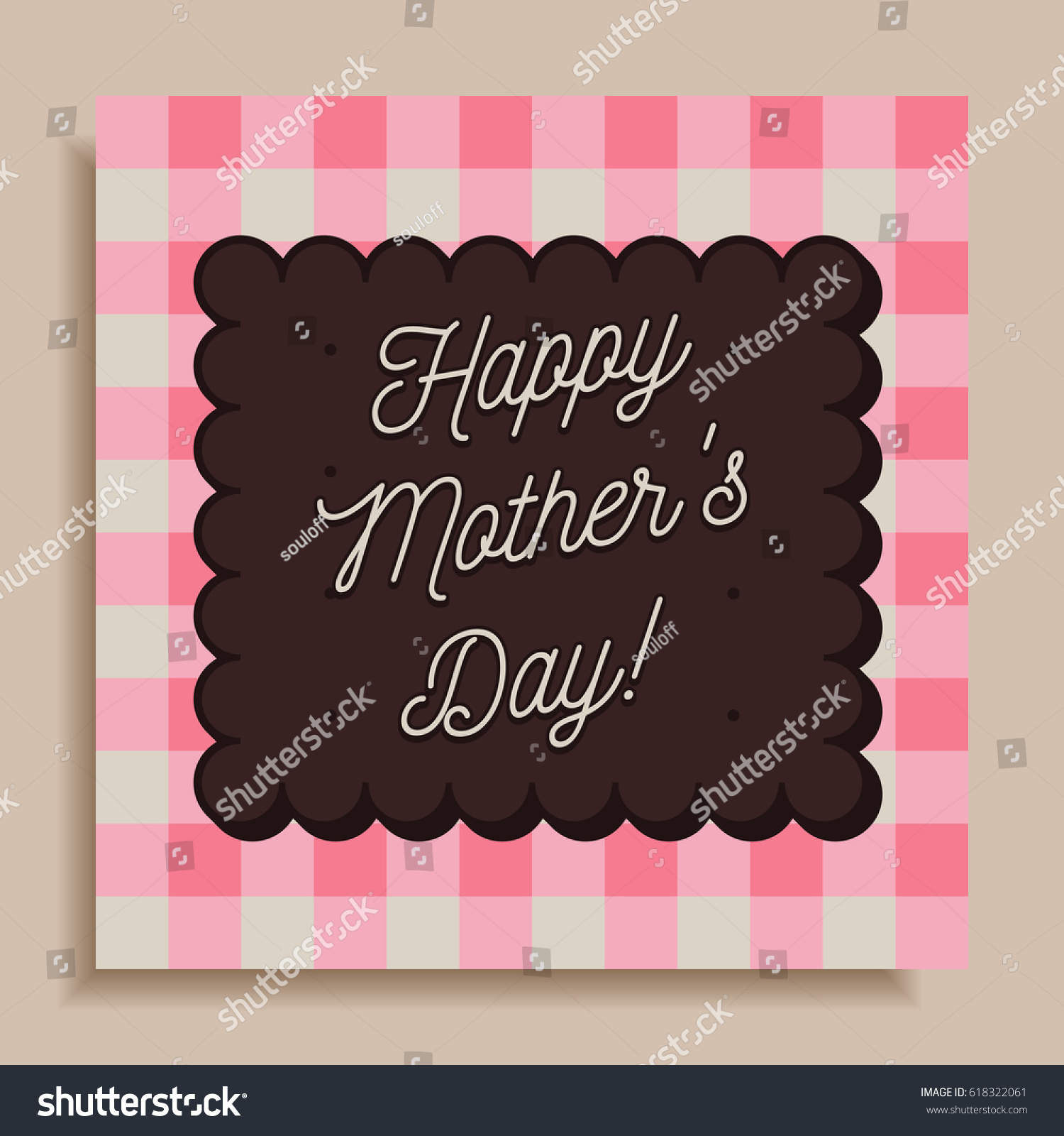 Creative Happy Mothers Day Greeting Cardposter Stock Vector Royalty