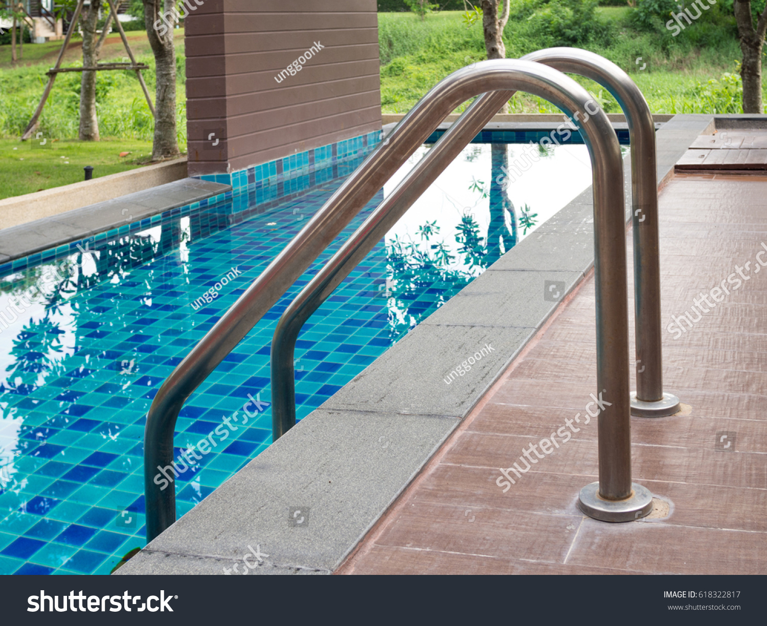 Aluminium Pool Rails Swimming Pool Rail Stock Photo Royalty Free