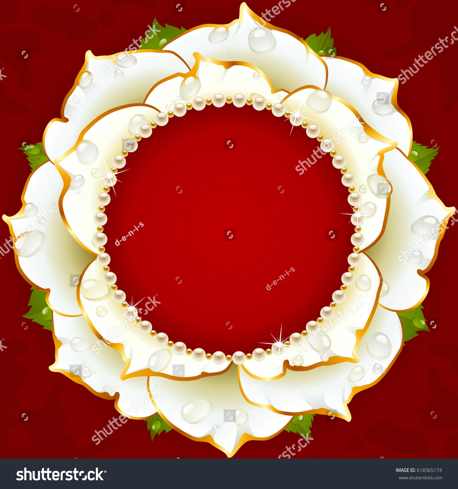 White Floral Circle Frame Flower Rose Stock Vector (Royalty Free ...
