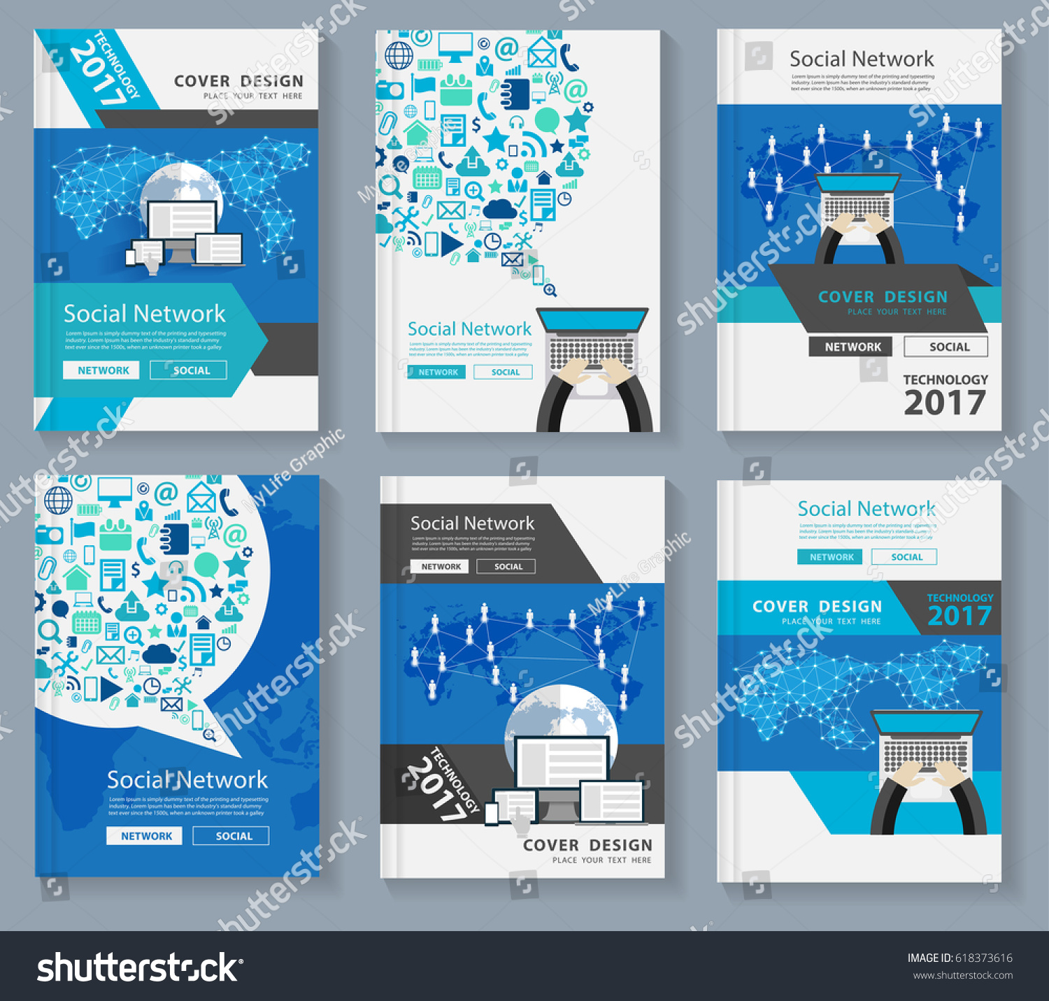 Business Magazine Cover Layout Design Innovation Stock-Vektorgrafik ...