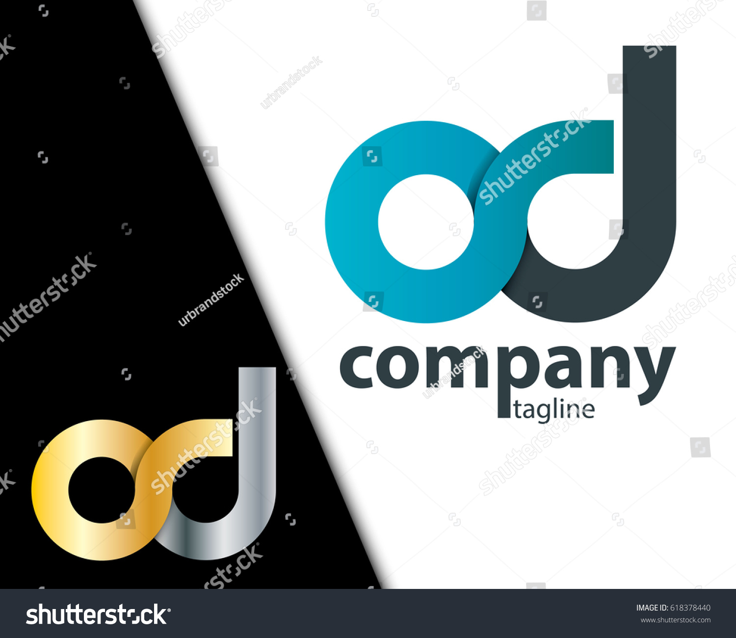 initial letter od cd sd rounded stock photo photo vector
