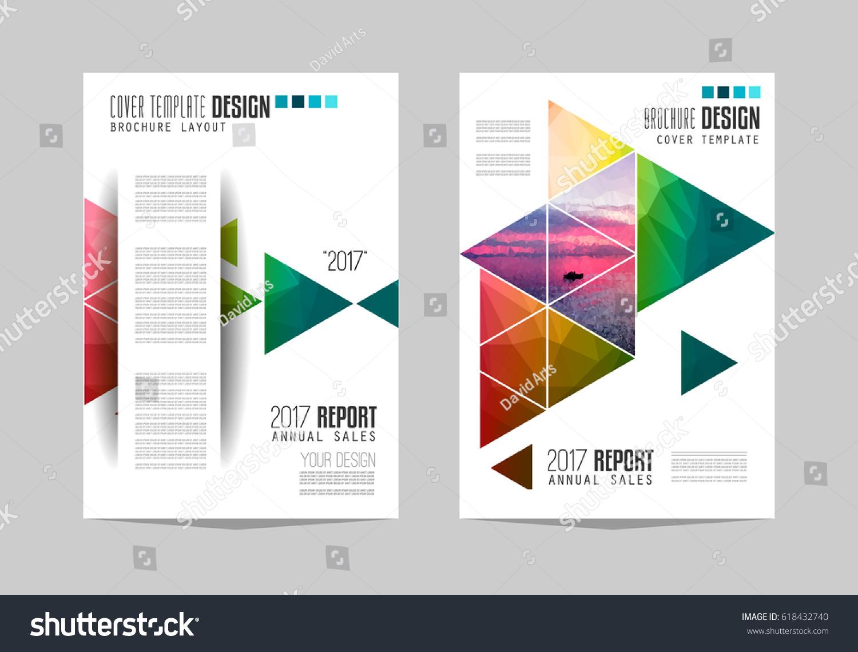 brochure template flyer design depliant cover image vectorielle de