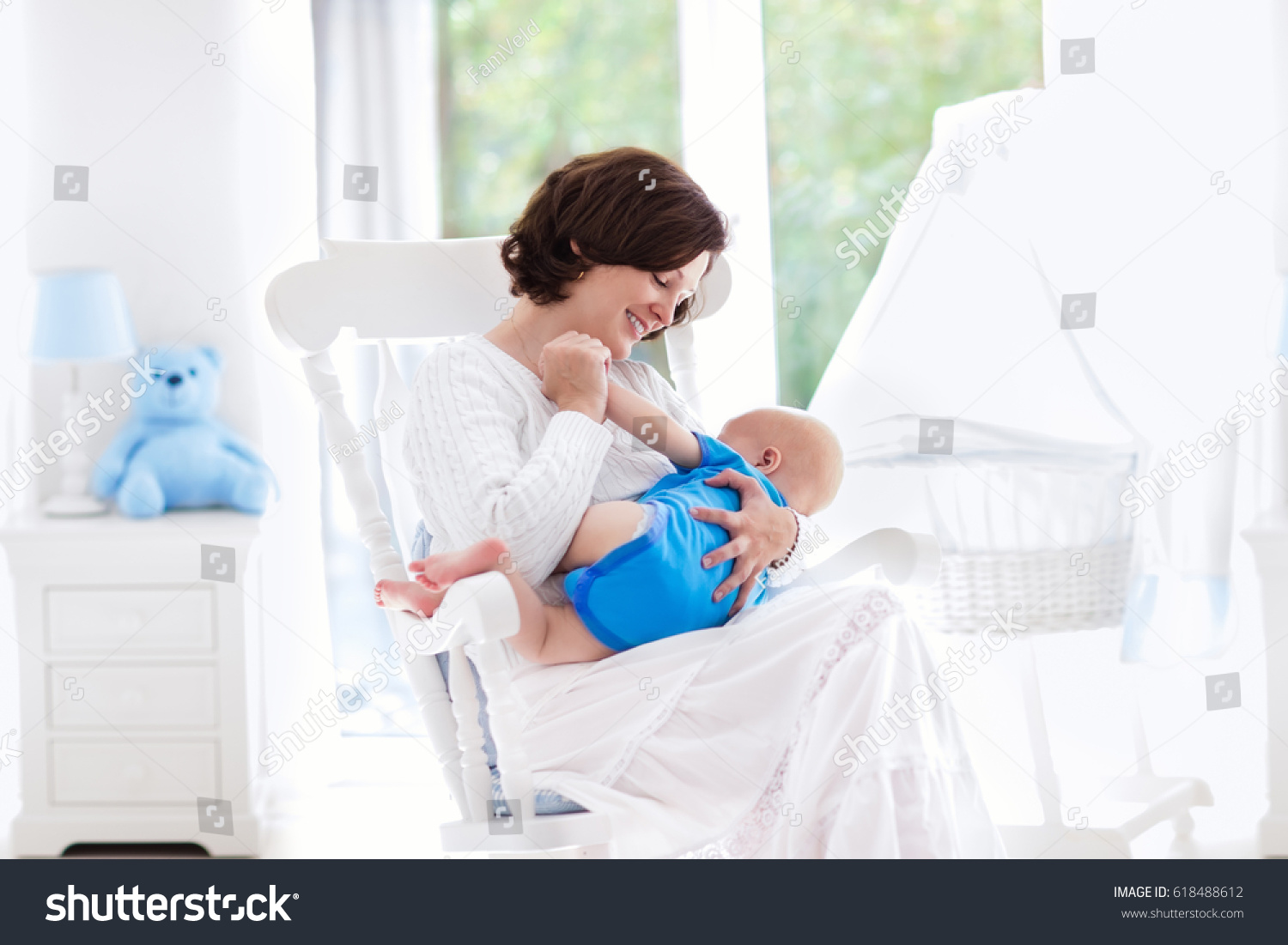 mother and baby at home breastfeeding and healthy infant nutrition young woman nursing her - Garden View Nursing Home