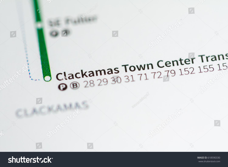 Clackamas Town Center Station Portland Metro Stock Photo (Edit Now on