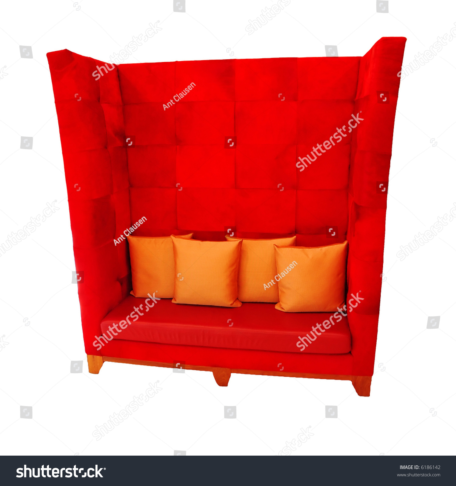 Funky Big Red Sofacouch Isolated Stock Shutterstock