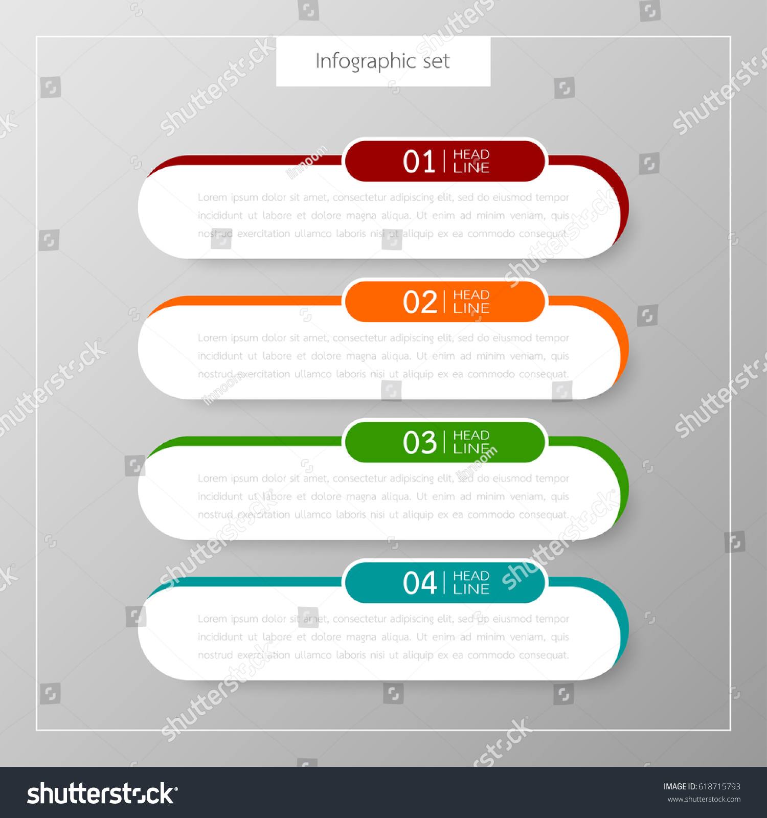 Infographic button template banner set colorful stock vector infographic button template banner set colorful tabs design illustration vector business card and text box for magicingreecefo Images