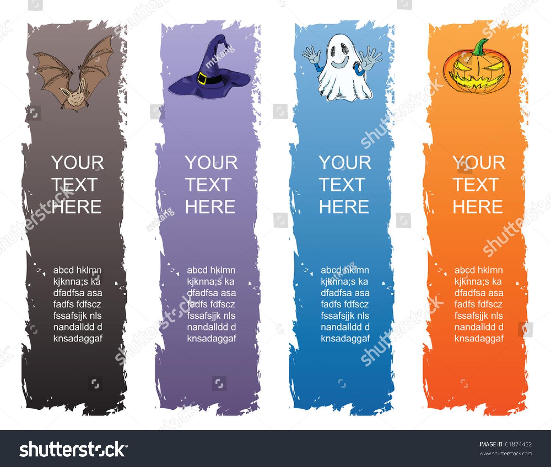 Halloween Banner Standard Size Vertical Banner Stock Vector ...