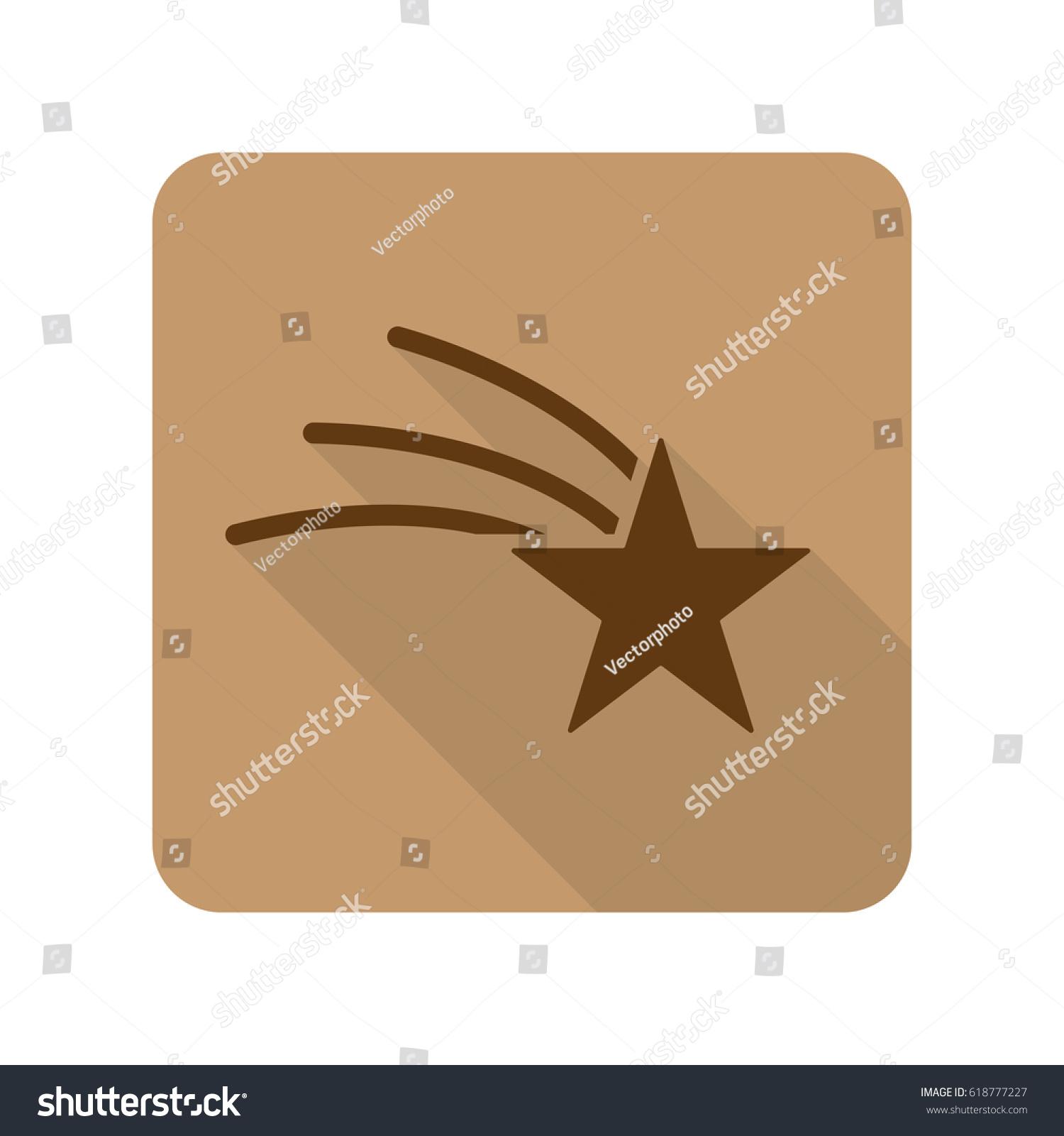 flat style shooting star web app stock illustration 618777227