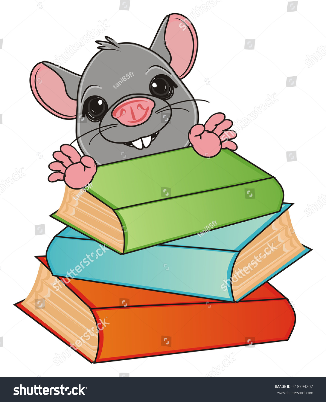snout rat stick out colored booksのイラスト素材 618794207 shutterstock