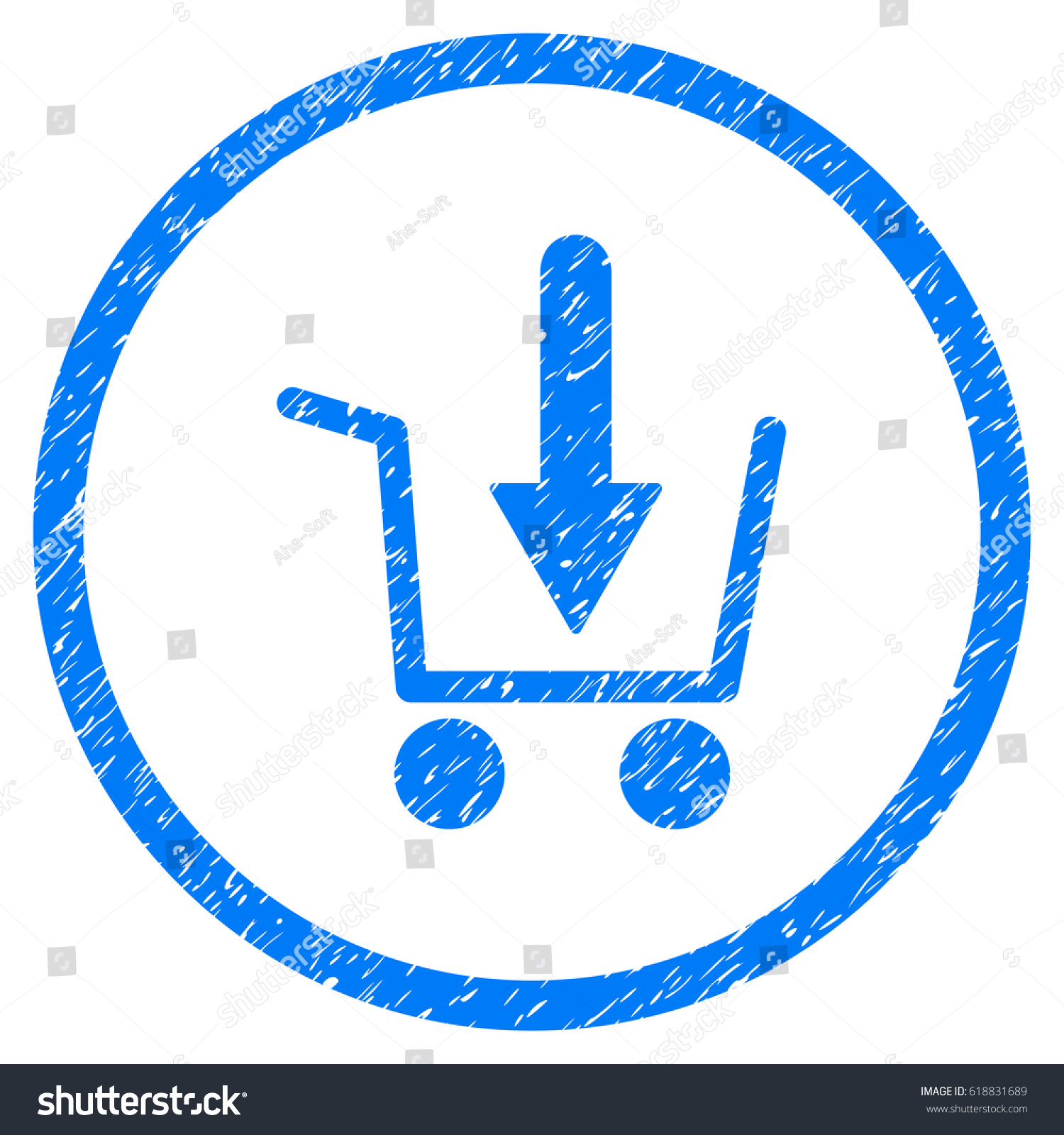 Add basket grainy textured icon inside stock vector 618831689 add basket grainy textured icon inside stock vector 618831689 shutterstock buycottarizona