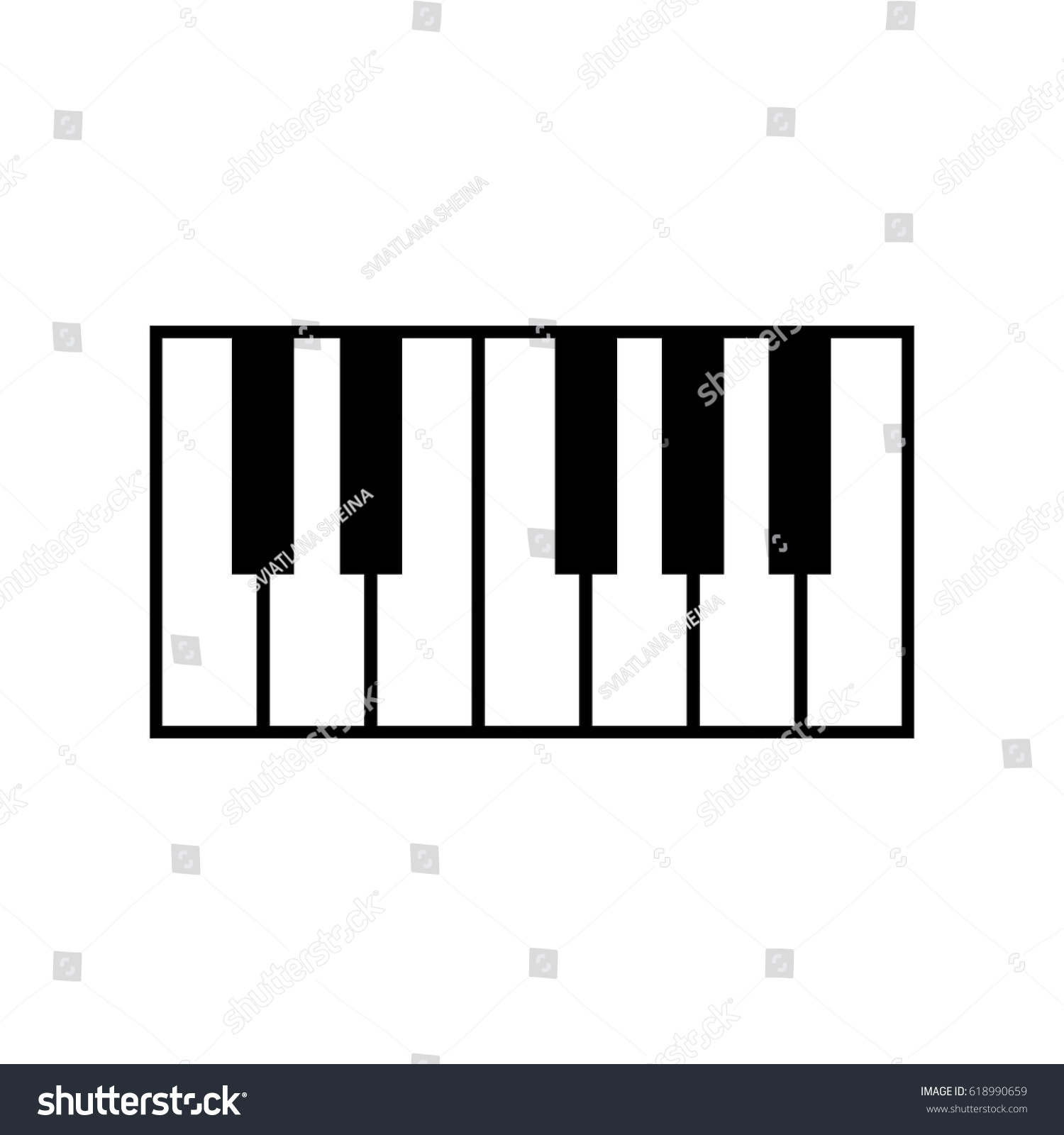 Piano Keyboard Icon Stock Vector 618990659 - Shutterstock