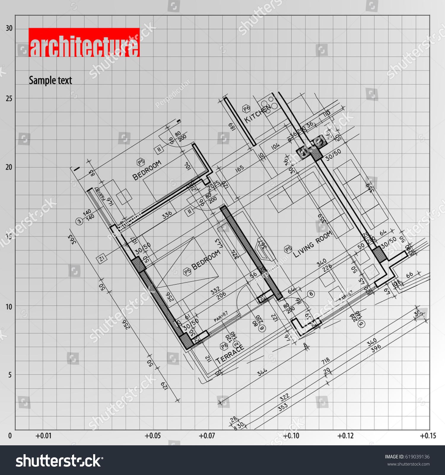 Architecture grid blueprint background sample vectores en stock architecture grid blueprint background sample malvernweather Images