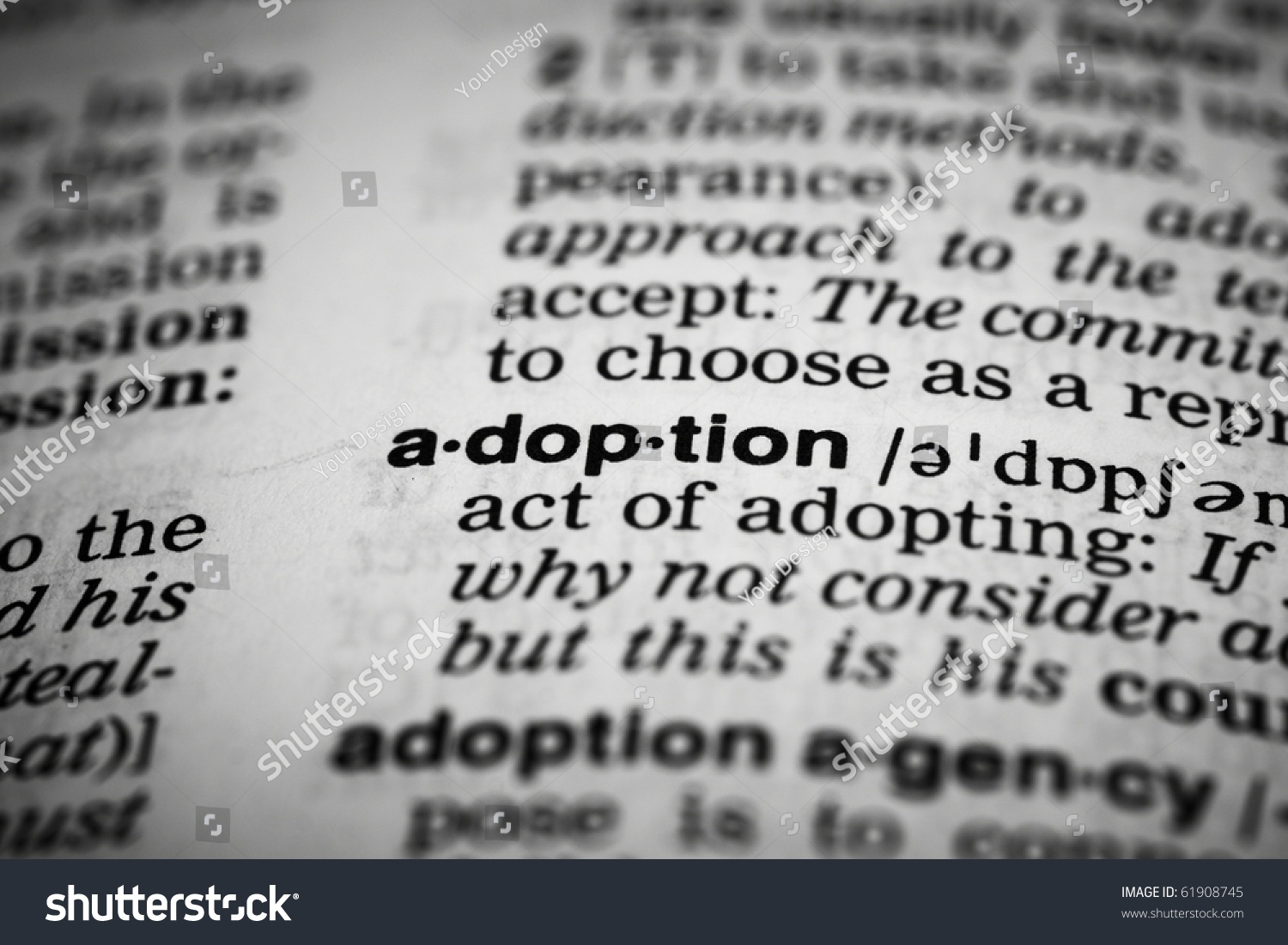 adoption definition dictionary stock photo (edit now) 61908745