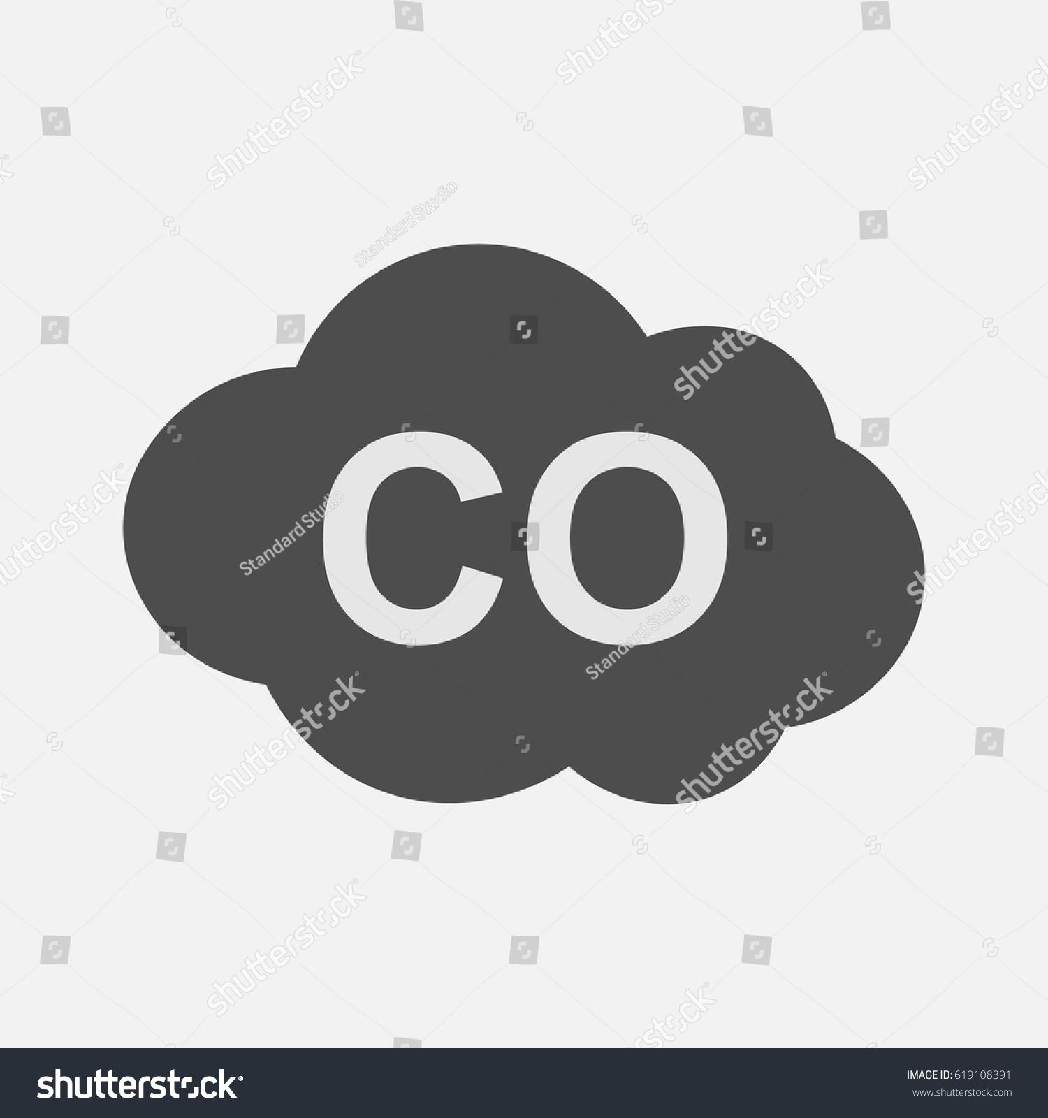 Co Icon Carbon Monoxide Formula Symbol Stock Vector Royalty Free