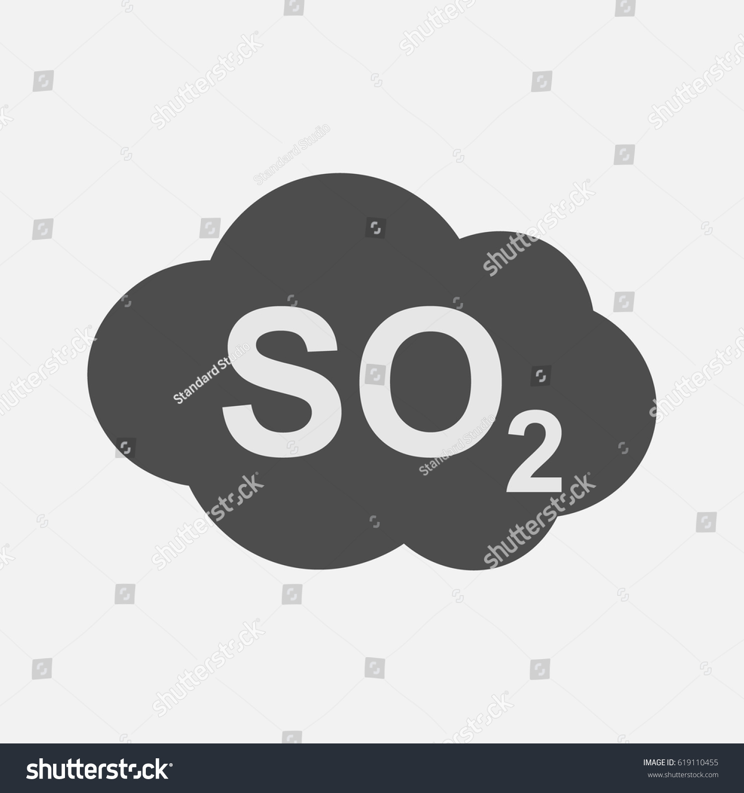 So 2 Icon Sulfur Dioxide Formula Symbol Stock Vector Royalty Free