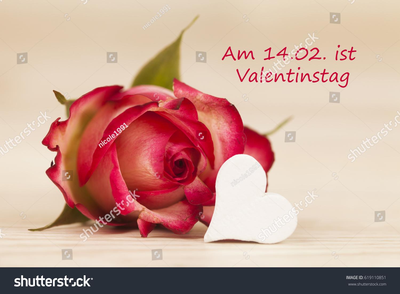 Rose Heart German Text Am 1402 Stock Photo 619110851 - Shutterstock