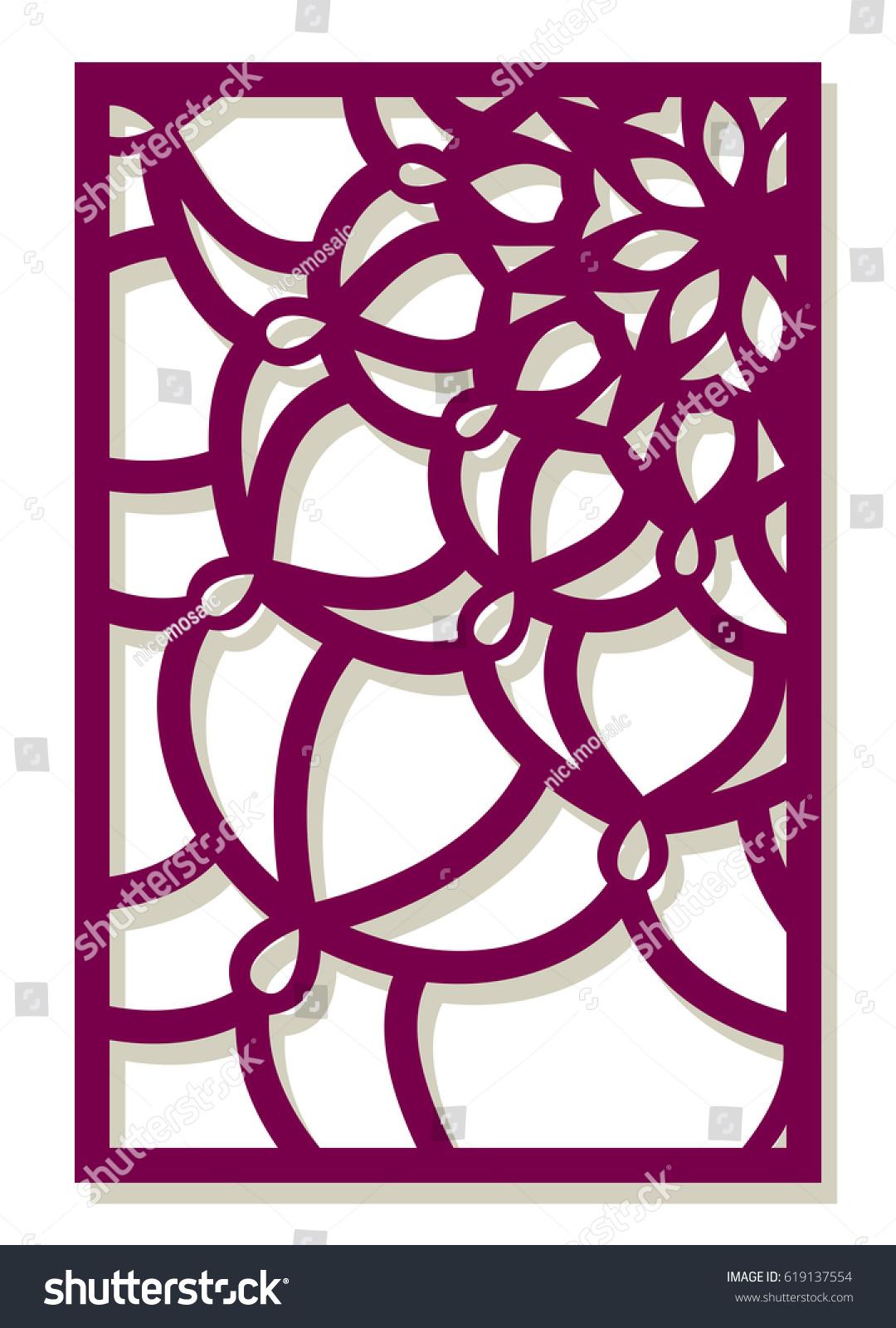 Vector Laser Cut Panel Pattern Template Stock-Vektorgrafik 619137554 ...