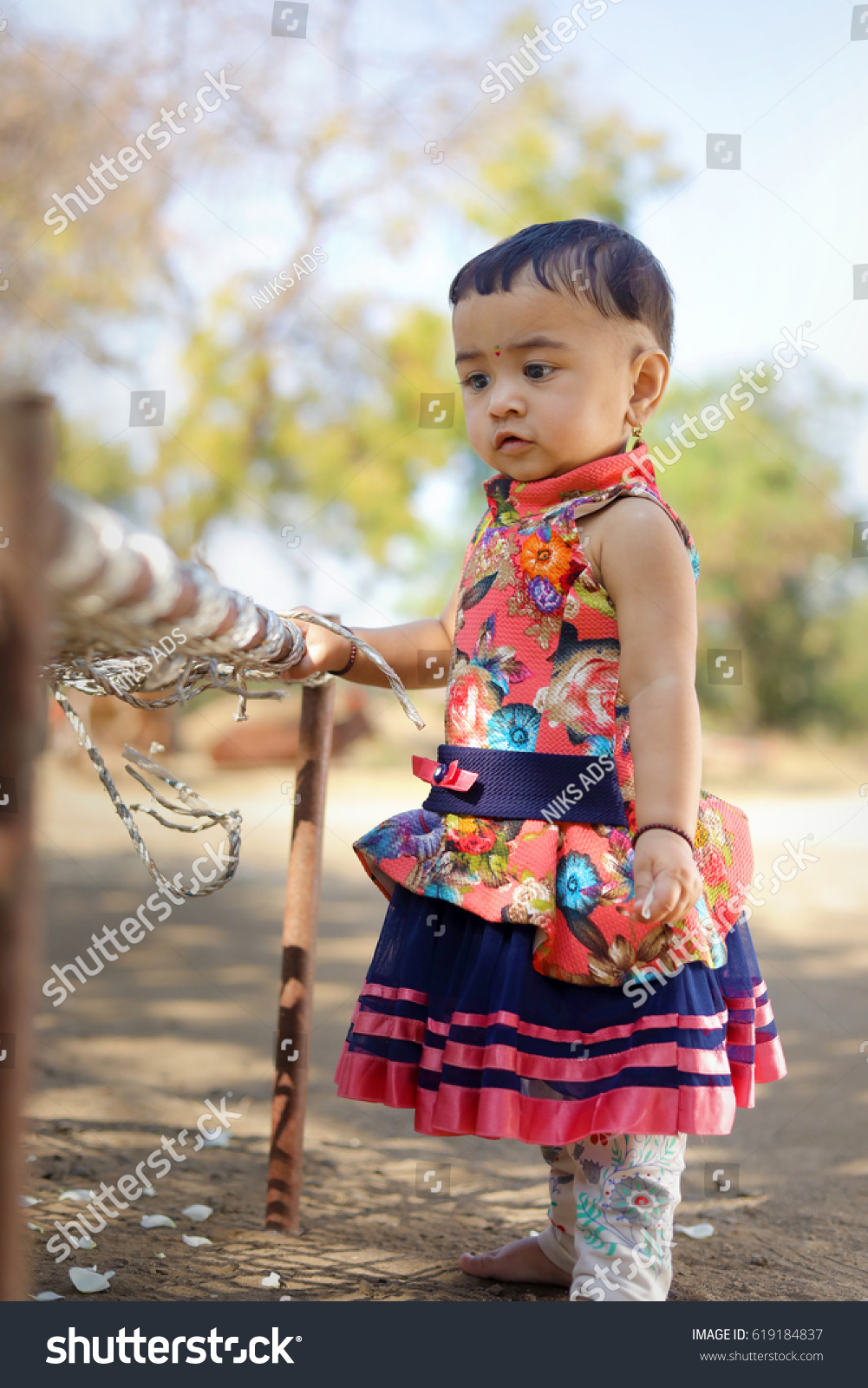 cute indian baby girl stock photo (edit now) 619184837 - shutterstock