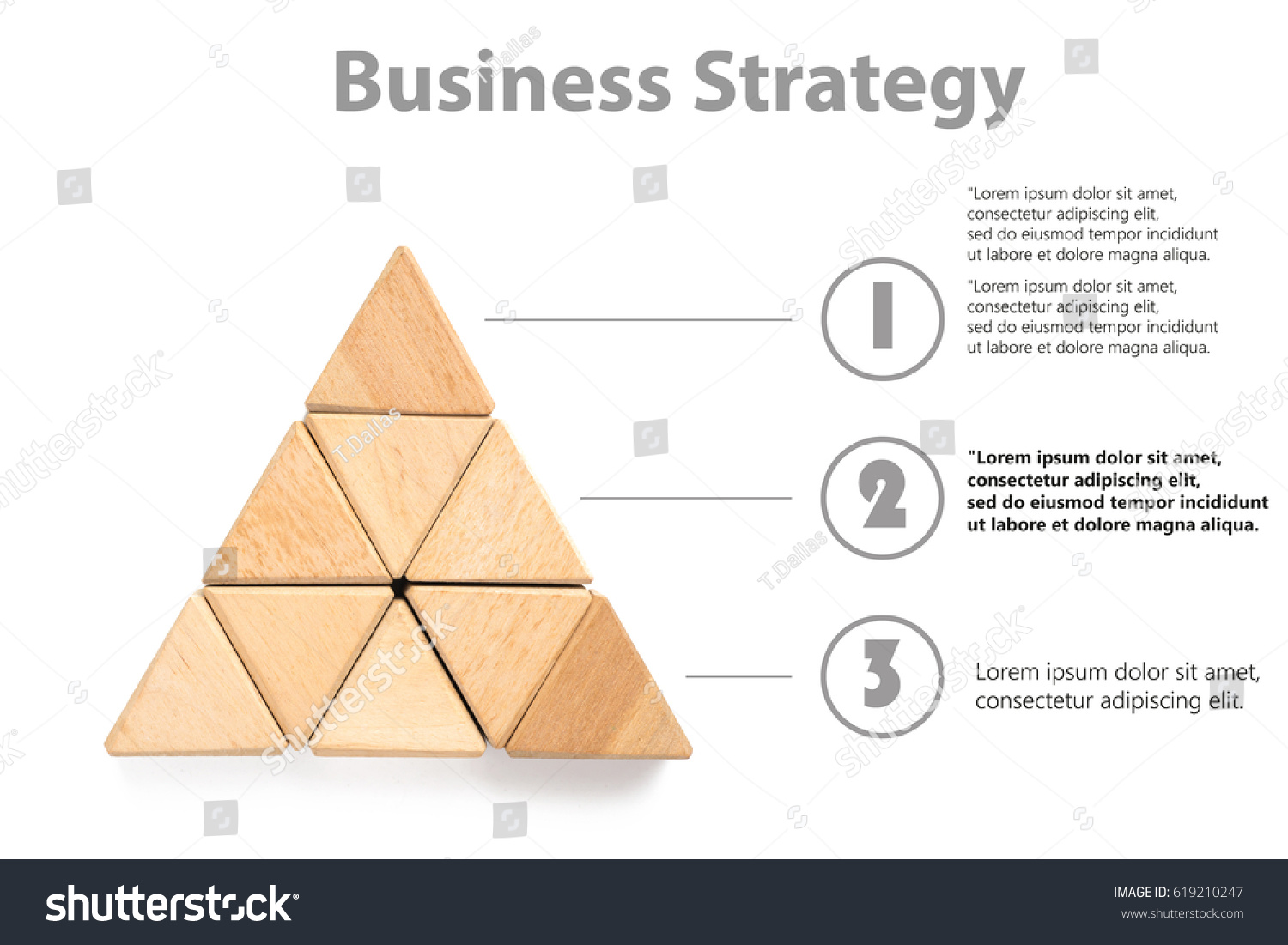 Wood Block Stacking Triangle Business Concept Stock Photo Edit Now