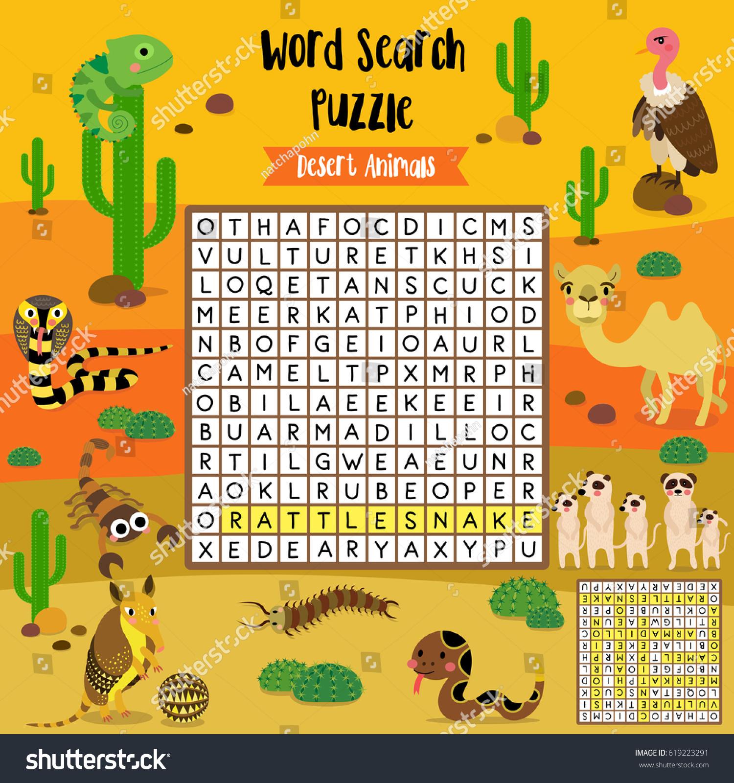 Desert Animal Matching Worksheets For Preschool on Desert Animals Crafts For Preschoolers