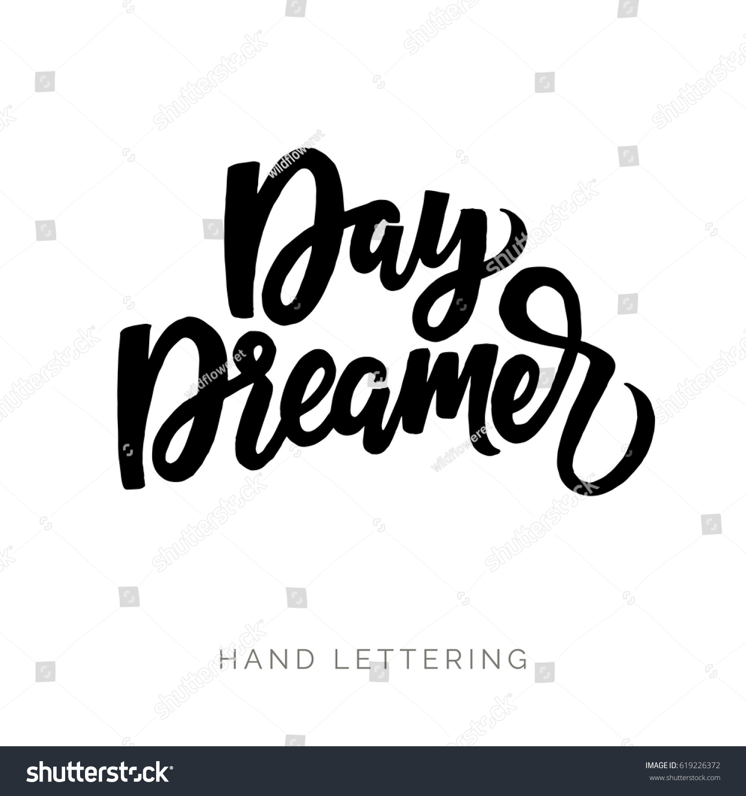 Day Dreamer Hand Drawn Quote Your Stock Vector Royalty Free